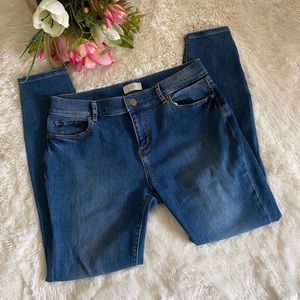 Loft Modern Skinny Jeans with Zippers